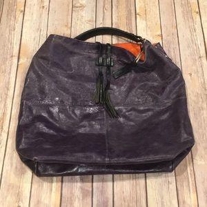7a0c5d4f41f TANO plum slouch leather bucket handbag